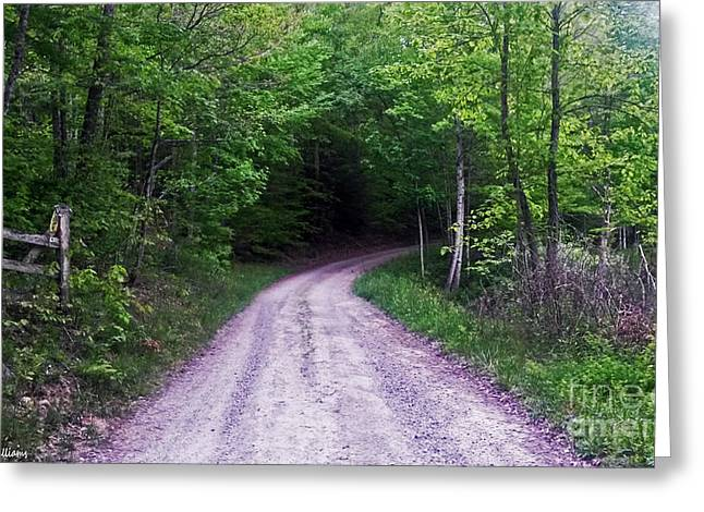 Hope You Enjoy . Greeting Cards - Country Road Greeting Card by Katherine Williams