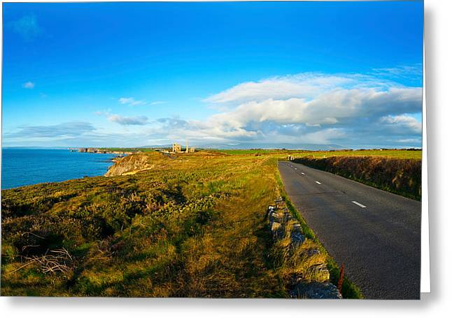 Republic Of Ireland Greeting Cards - Country Road Leading To The Old Copper Greeting Card by Panoramic Images