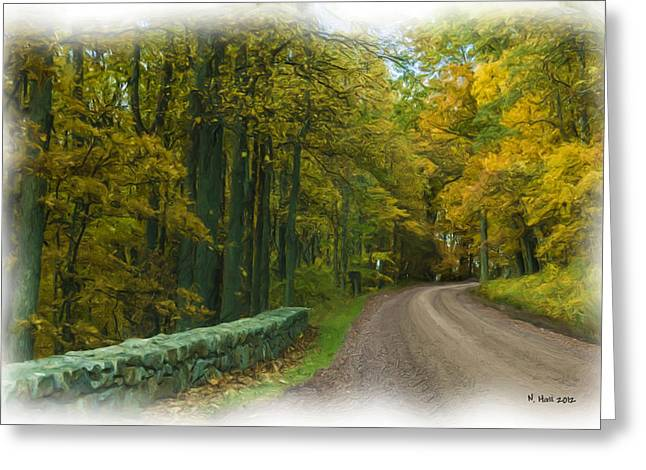Country Dirt Roads Mixed Media Greeting Cards - Country Road Greeting Card by Lisa and Norman  Hall