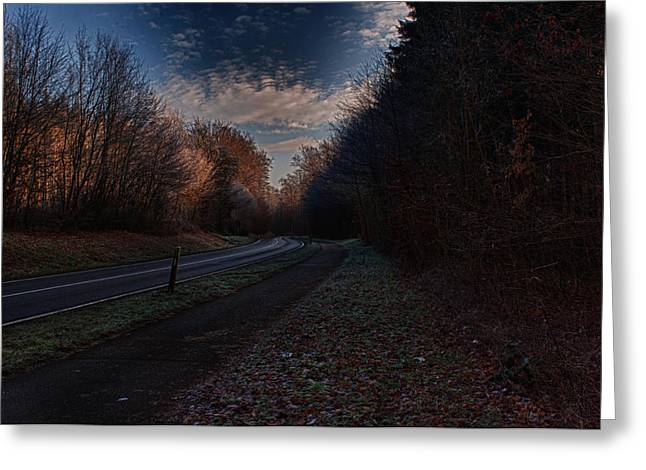 Deutschland Greeting Cards - Country Road Greeting Card by Miguel Winterpacht