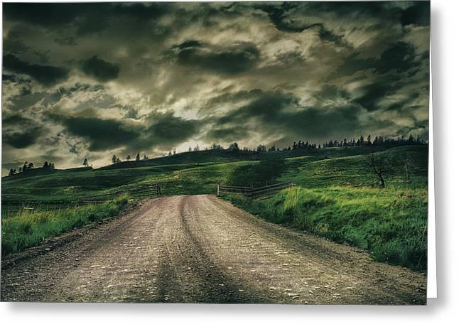 Country Road Greeting Card by Naman Imagery