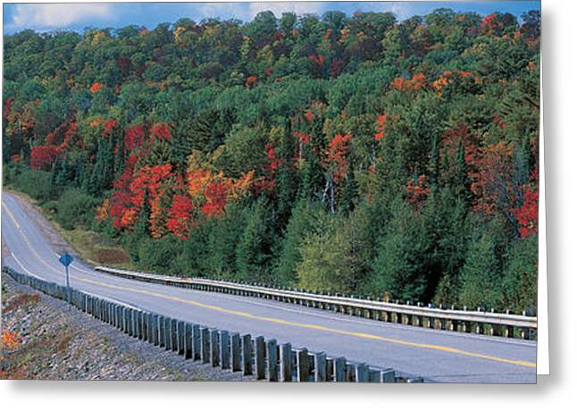 Telephone Poles Greeting Cards - Country Road Ontario Canada Greeting Card by Panoramic Images