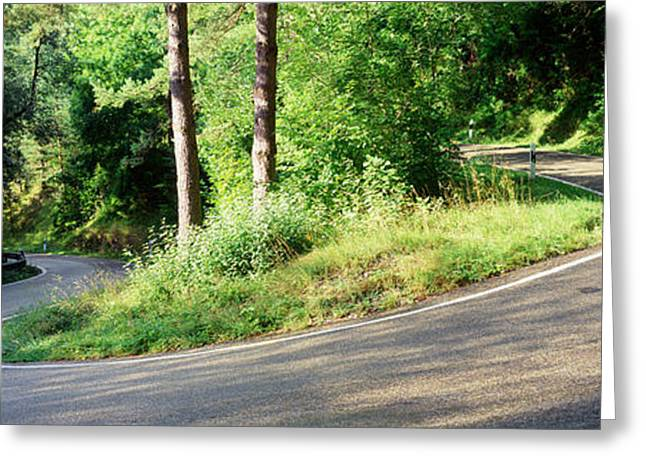 Roadway Greeting Cards - Country Road Southern Germany Greeting Card by Panoramic Images