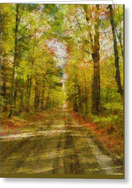 Hiking Digital Greeting Cards - Country Road Take Me Home Greeting Card by Dan Sproul