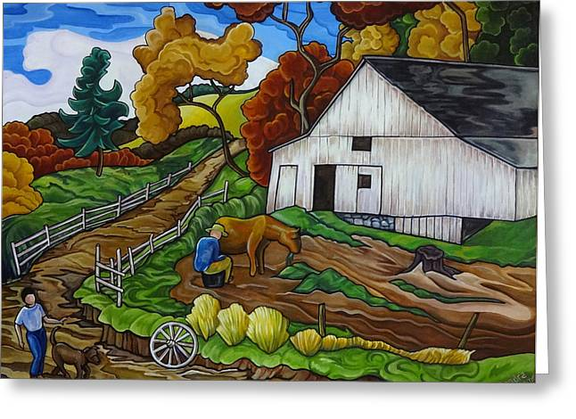 Thome Greeting Cards - Country Road Greeting Card by Transcend Designs