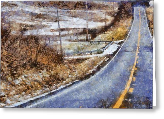 Berlin Mixed Media Greeting Cards - Country Roads In Ohio Greeting Card by Dan Sproul