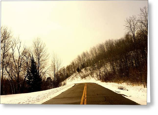 Country Roads Take Me Home Greeting Card by Danielle  Broussard