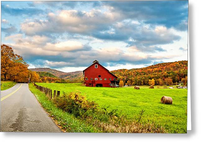 Hay Bales Greeting Cards - Country Road...West Virginia Greeting Card by Steve Harrington
