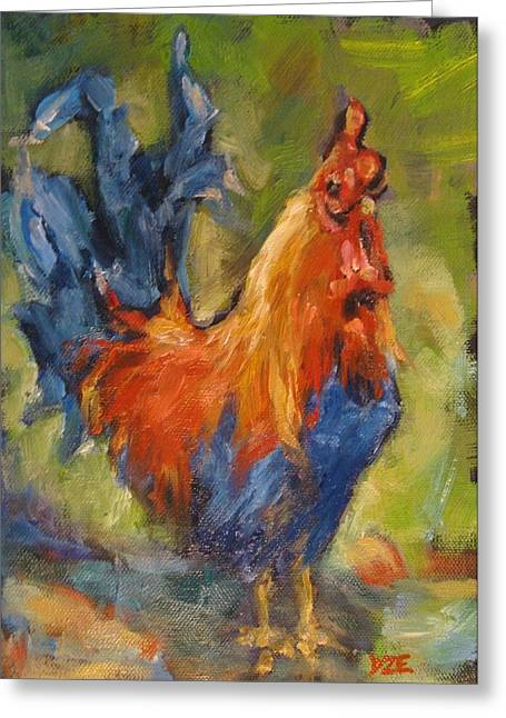 Vermont Rooster Greeting Cards - Country Rooster Greeting Card by Donna Ellery
