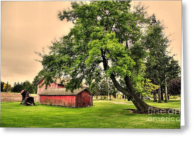 Struckle Greeting Cards - Country Scene Greeting Card by Kathleen Struckle