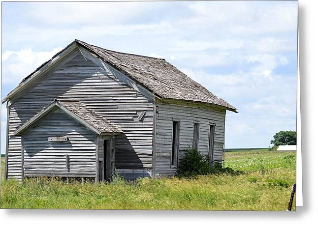 Abandoned School House. Greeting Cards - Country School 7345 Greeting Card by Bonfire Photography