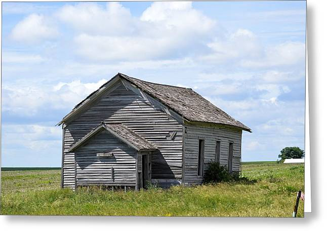 Abandoned School House. Greeting Cards - Country School 7346 Greeting Card by Bonfire Photography