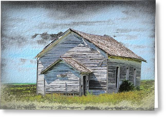 Abandoned School House. Greeting Cards - Country School  Greeting Card by Bonfire Photography