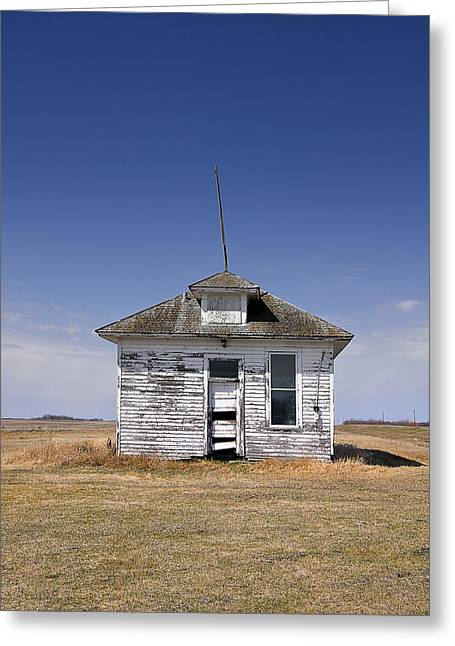 Old School House Greeting Cards - Country School Building Greeting Card by Donald  Erickson