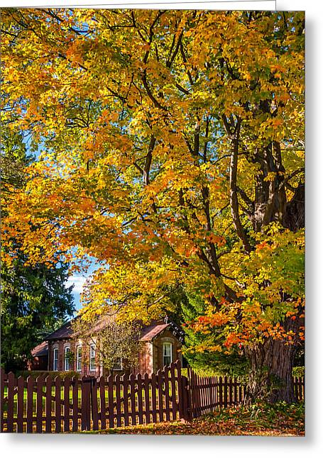 Old School House Greeting Cards - Country Schoolhouse Greeting Card by Steve Harrington