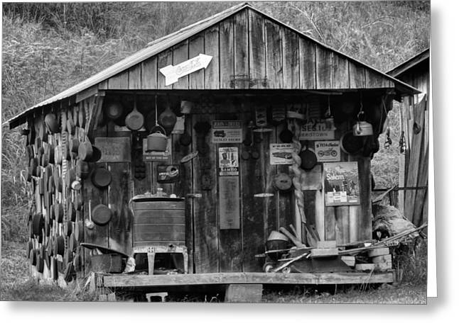 Hunting Cabin Photographs Greeting Cards - Country Shack Greeting Card by Dan Sproul
