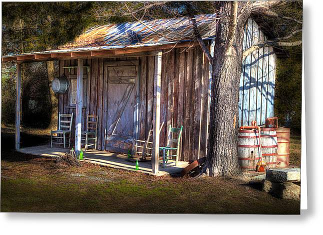 Mt. Airy Greeting Cards - Country Shed Greeting Card by Michael Eingle
