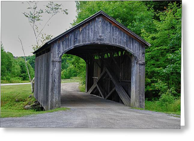 Vermont Country Store Greeting Cards - Country Store Bridge 5656 Greeting Card by Guy Whiteley