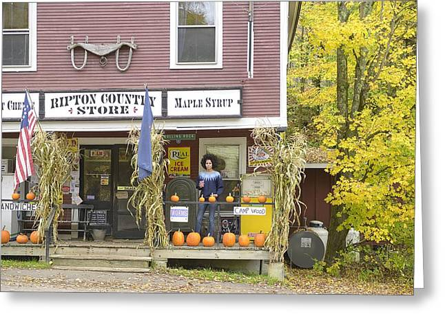Vermont Country Store Greeting Cards - Country Store Greeting Card by Christian Heeb