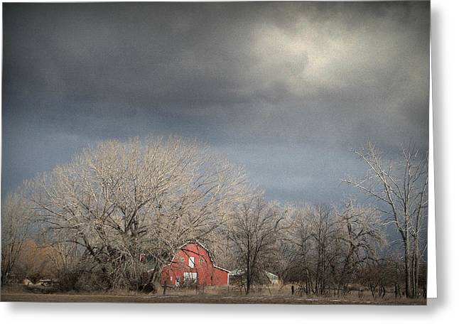 Turbulent Skies Greeting Cards - Country Storms.. Greeting Card by Al  Swasey