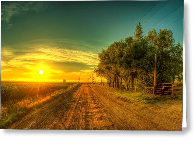 Hdr Landscape Photographs Greeting Cards - Country sunrise Greeting Card by  Caleb McGinn
