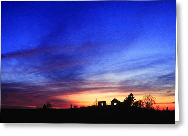 Country Sunset Greeting Card by Wendell Thompson