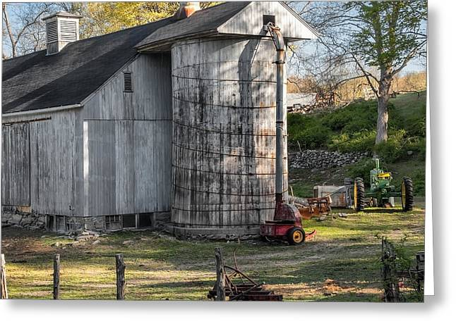 Old Barns Greeting Cards - Country Time Square Greeting Card by Bill  Wakeley