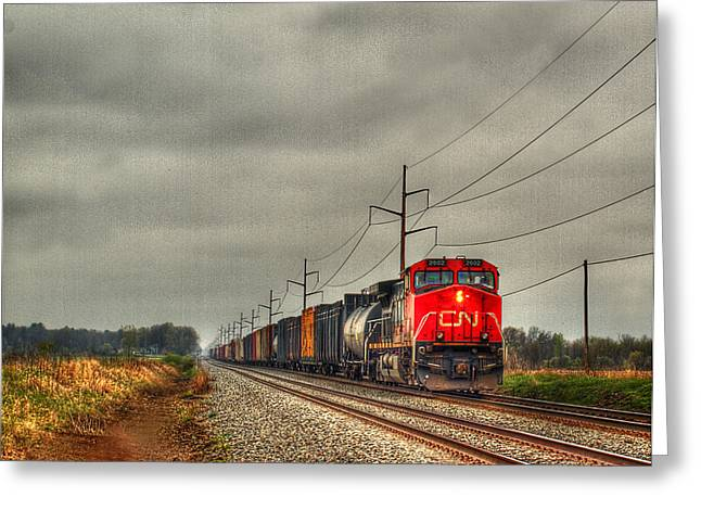 Caboose Greeting Cards - Country Train 1 Greeting Card by Thomas Young