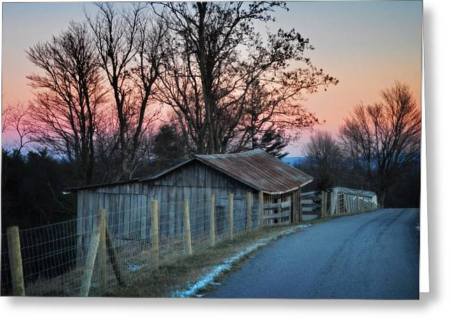 Vinter Greeting Cards - Country Travels Greeting Card by Lj Lambert