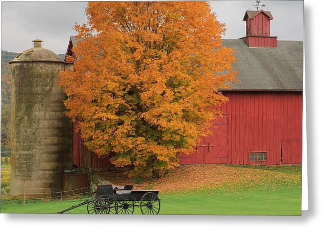 Barn Greeting Cards - Country Wagon Greeting Card by Bill  Wakeley