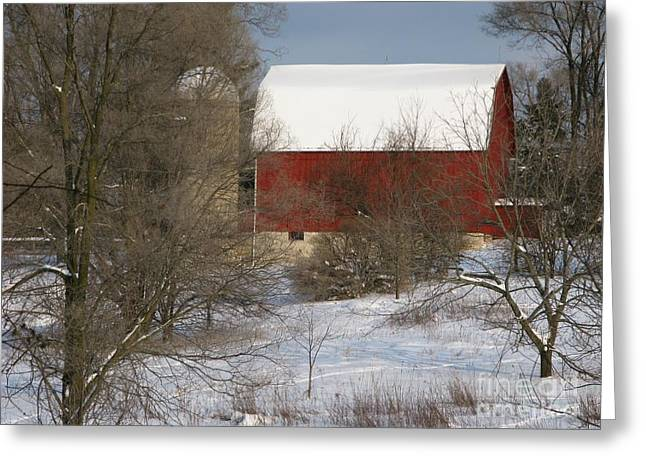 Ann Horn Greeting Cards - Country Winter Greeting Card by Ann Horn