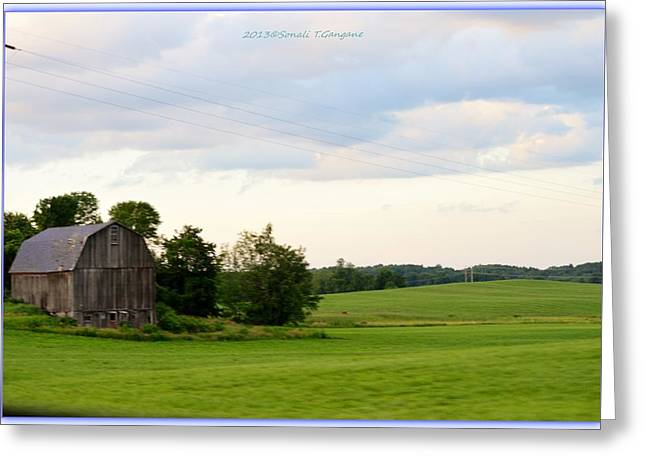 Amazing Stories Greeting Cards - Countryside charm Greeting Card by Sonali Gangane