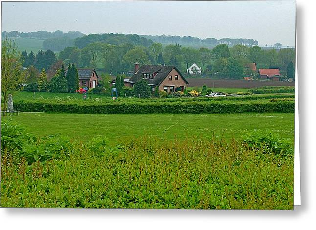 Liberation Greeting Cards - Countryside Close to Arnhem from Liberation Museum-Netherlands Greeting Card by Ruth Hager
