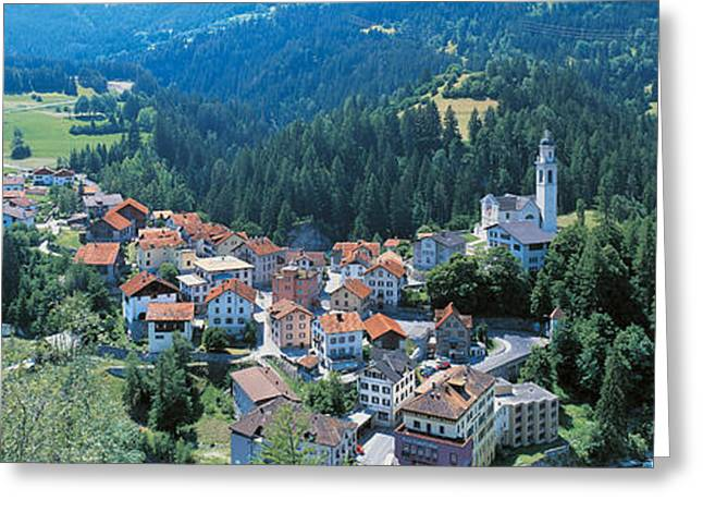 Of Buildings Greeting Cards - Countryside Switzerland Greeting Card by Panoramic Images