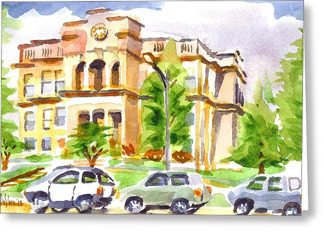 Francois Greeting Cards - County Courthouse II Greeting Card by Kip DeVore