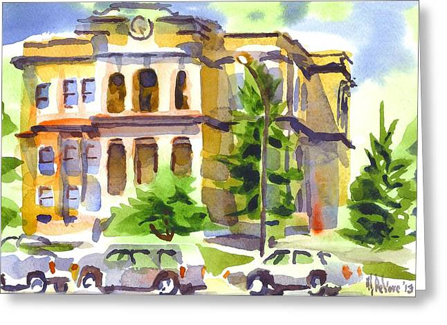 Francois Greeting Cards - County Courthouse Greeting Card by Kip DeVore