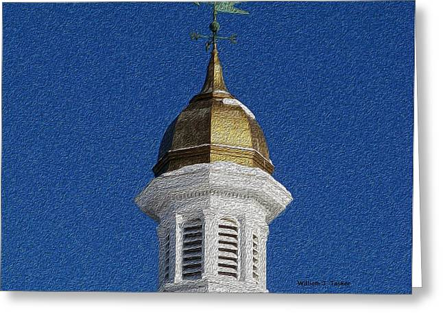 Weathervane Greeting Cards - County Courthouse Greeting Card by William Tasker