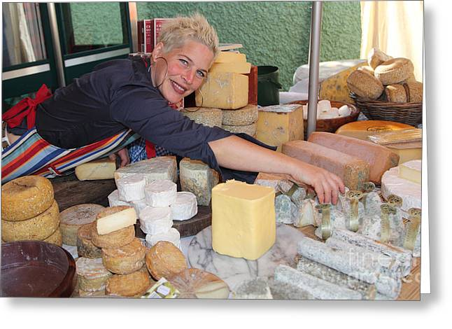 Local Food Photographs Greeting Cards - County Kerry cheesemaker Maja Binder Greeting Card by Ros Drinkwater