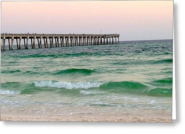 Panama City Beach Greeting Cards - County Pier Greeting Card by Leslie Brashear