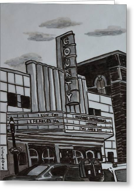 Pa Drawings Greeting Cards - County Theater Greeting Card by Christina Schott