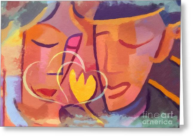 Couple In Love Greeting Cards - Couple in Love Greeting Card by Lutz Baar