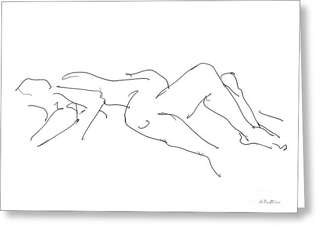 Sexy Couple Greeting Cards - Couples Erotic Art 4 Greeting Card by Gordon Punt