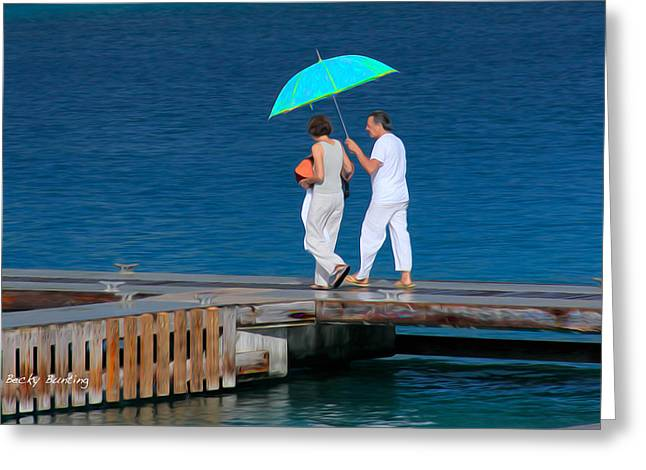 Recently Sold -  - Underwater Photos Greeting Cards - Couples Retreat Greeting Card by Becky Bunting