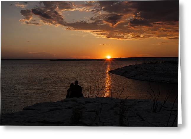 Del Rio Texas Greeting Cards - Couples Sunset in the Desert Greeting Card by Amber Kresge