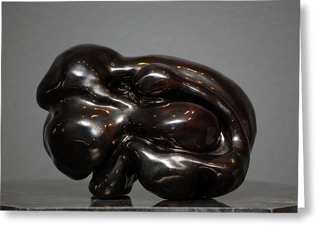 Couples Sculptures Greeting Cards - Coupling Greeting Card by GK Brock