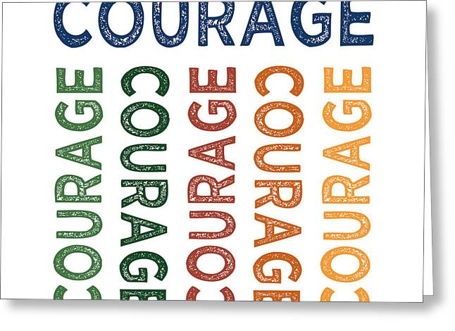 Courage Cute Colorful Greeting Card by Flo Karp