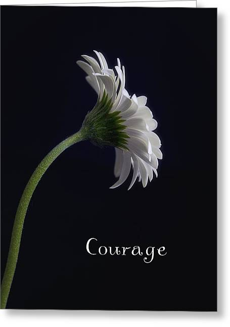 Courage Greeting Card by Kim Andelkovic