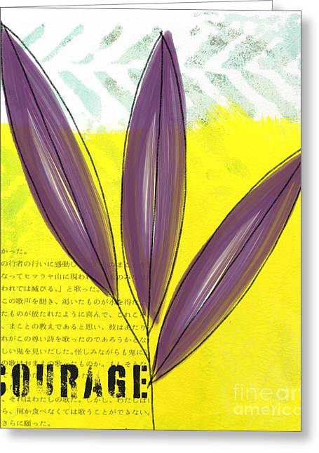 Teen Greeting Cards - Courage Greeting Card by Linda Woods