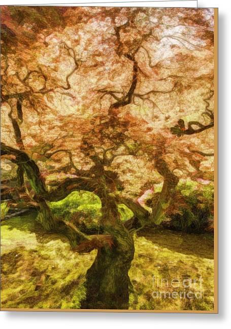 Courage Tree Greeting Card by Jean OKeeffe Macro Abundance Art