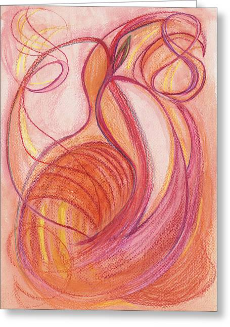 Popular Drawings Greeting Cards - Courages Nourishment Greeting Card by Kelly K H B
